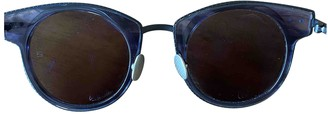 Bottega Veneta Blue Plastic Sunglasses