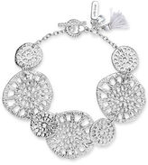 lonna & lilly Cubic Zirconia Cutout Coin Bracelet