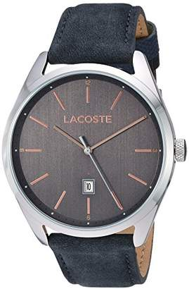 Lacoste Men's San Diego Stainless Steel Quartz Watch with Suede Strap