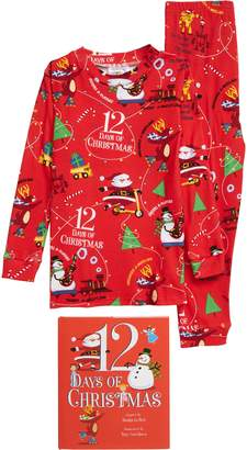 Books to Bed 12 Days of Christmas Fitted Two-Piece Pajamas & Book Set