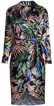 Milly Jordan Tropical Wrap Dress