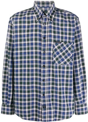 Valentino Pre Owned 1990s Checked Button-Down Shirt