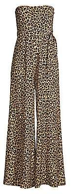 LIKELY Women's Emile Leopard Strapless Flare Jumpsuit - Size 0