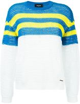 DSQUARED2 colour block stripe sweater - women - Cotton/Polyester - M