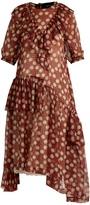 Simone Rocha Ruffle-trimmed gingham chiffon dress