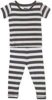 Kickee Pants Print Pajama Set (Baby) - Contrast Stripe-18-24M