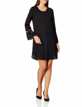 Lark & Ro Amazon Brand Women's Long Sleeve Lace Shift Dress
