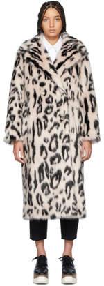 Stella McCartney Pink and Black Fur Free Fur Leopard Coat