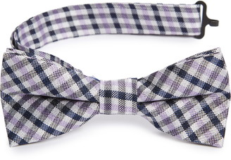 Nordstrom Hammond Check Silk Bow Tie