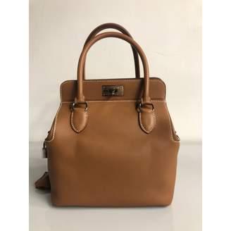 Hermes Toolbox Brown Leather Handbags