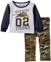 True Religion Tiger Long Sleeve Raglan & Camo Pant Set (Baby Boys)