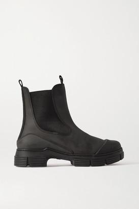Ganni Rubber Chelsea Boots - Black