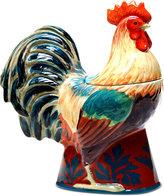 Certified International Rustic Rooster Figural Cookie Jar
