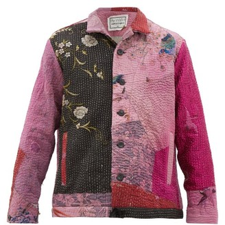 By Walid Jono Embroidered-chinese Silk Jacket - Brown Multi
