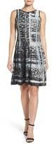 Nic+Zoe Women's Crosstown Twirl Knit Fit & Flare Dress