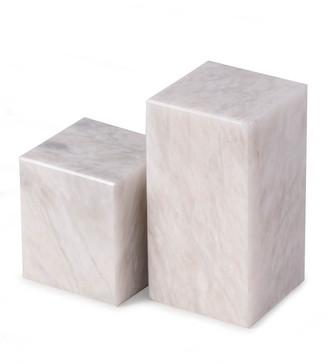 Bey-Berk Men's Marble Cube Design Bookends