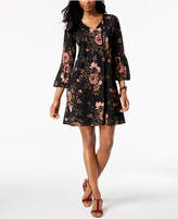 Style&Co. Style & Co Floral-Print Bell-Sleeve Dress, Created for Macy's