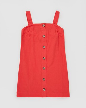 Cotton On Button Front Dress - Teens