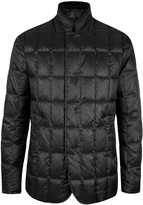 Giorgio Armani Nehru Black Quilted Shell Jacket