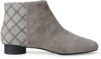 Karl Lagerfeld Paris Pebble Grey Fauna Suede Ankle Boots