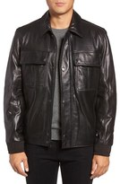 Andrew Marc Men's Andover Leather Bomber Jacket