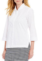 Preston & York Renee Collared Button-Front Blouse