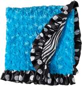 Patricia Ann Designs Zebra Satin Stroller Blanket