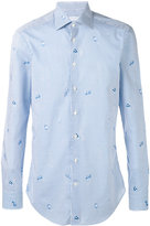 Etro tiny fish print shirt - men - Cotton - 40