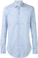 Etro tiny fish print shirt - men - Cotton - 43