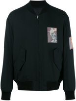 Alexander Wang patch detailed bomber jacket - men - Silk/Acrylic/Polyester/Viscose - 46