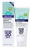 Derma E Antioxidant Natural Sunscreen SPF 30 Body Lotion with Vitamin C and Green Tea 4 oz