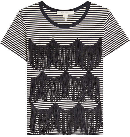 Marc Jacobs Striped Fringe Tee