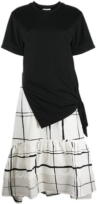 3.1 Phillip Lim Ss T-Shirt Combo Dress W Side Tie