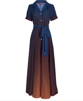 STAUD Millie Belted Maxi Shirt Dress