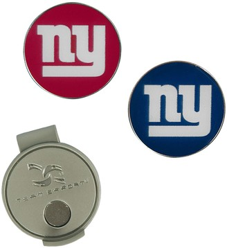 Unbranded New York Giants Hat Clip & Ball Markers Set