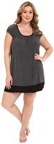 DKNY Plus Size Urban Essentials Cap Sleeve Short Sleepshirt