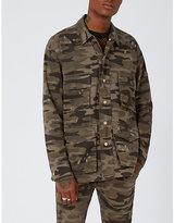 Topman Topman Camouflage-print Denim Jacket