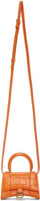 Balenciaga Orange Mini Hourglass Bag