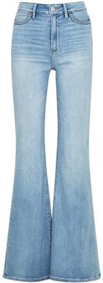 Paige Genevieve Braid Blue Flared Jeans