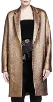 Donna Karan Burnished Metallic Easy Coat