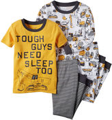 Carter's 4-pc. Tough Guy Cotton Pajama Set - Toddler Boys 2t-5t
