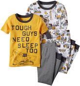 Carter's 4-pc. Tough Guy Cotton Pajama Set - Toddler Boys 2t-5t