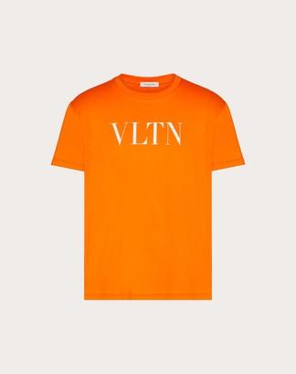 Valentino Neon Vltn T-shirt Man Fluorescent Green Cotton 100% L
