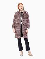 Kate Spade Plaid car coat
