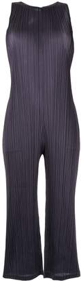 Pleats Please Issey Miyake pleated sleeveless jumpsuit