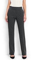 Lands' End Women's Petite Wear to Work Wide Leg Pants-Slate Frost Stripe