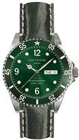 Oxygen Campo 40 Mens Quartz Watch with Green Dial Analogue Display and Green Leather Strap EX-D-CAM-40-CL-GN