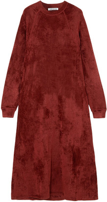 Elizabeth and James Lafayette Crushed-velvet Midi Dress