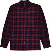 Burton Mens Big & Tall Burgundy and Navy Check Shirt