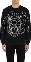 Givenchy Men's Stenciled-Rottweiler Cotton Sweatshirt